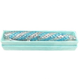 Crystal Blue Stripe Pen Boxed