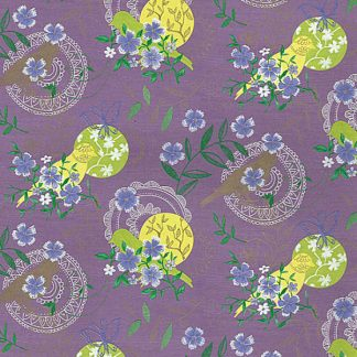 Birds on Purple Wrapping Paper 57cm x 160m