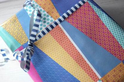 Textile Wrapping Paper and Le Erre Ribbon