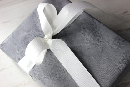 Concrete Wrapping Paper and 19mm Matte Ribbon