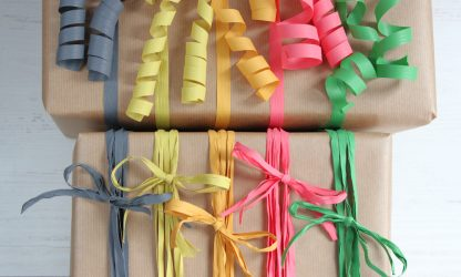 ribbon and raffia