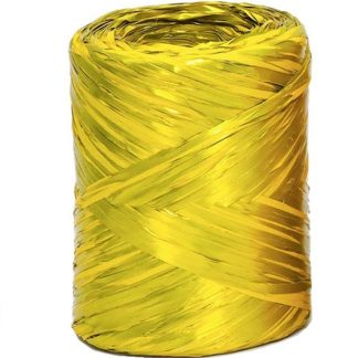 Yellow Metallic Raffia
