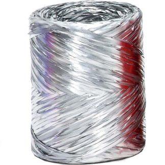 Silver Metallic Raffia