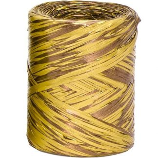 Gold + Copper Bicolour Metallic Raffia
