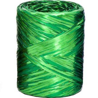 Emerald Metallic Raffia