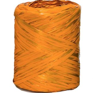 Orange Metallic Raffia