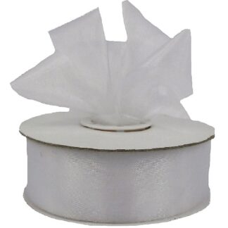 White Organza Ribbon 25mm