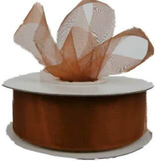 Copper Organza Ribbon 25mm