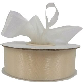 Cream Organza Ribbon 25mm