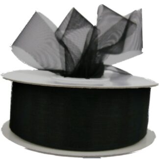 Black Organza Ribbon 25mm