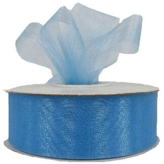Light Blue Organza Ribbon 25mm
