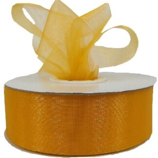 Yellow Organza Ribbon 25mm