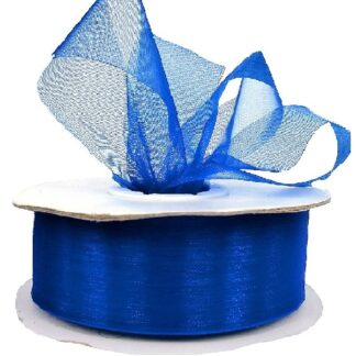 Royal Blue Organza Ribbon 25mm