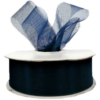 Navy Organza Ribbon 25mm