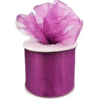 Purple Organza Ribbon 50mm