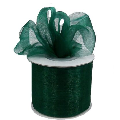 Hunter Green Organza Ribbon 50mm