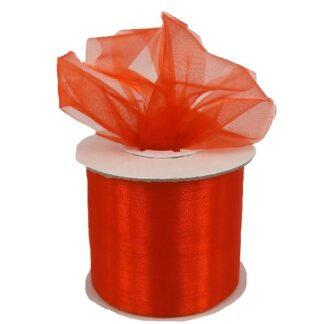 Orange Organza Ribbon 50mm
