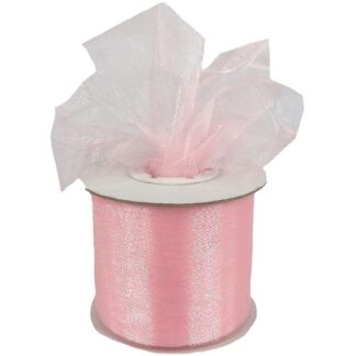 Light Pink Organza Ribbon 50mm