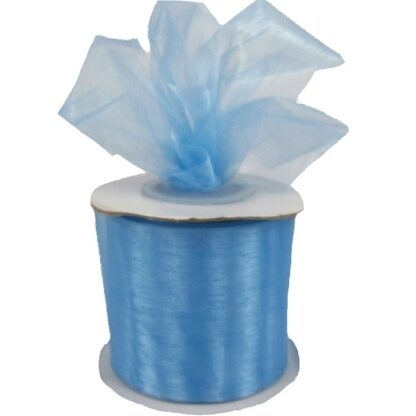 Light Blue Organza Ribbon 50mm
