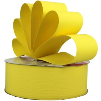 Lemon Matte Ribbon 50mm