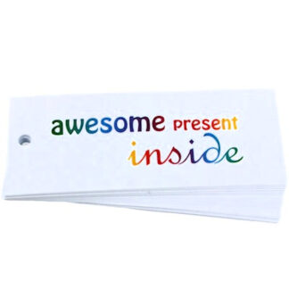 Awesome White Gift Tag