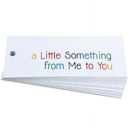 A Little Something White Gift Tag