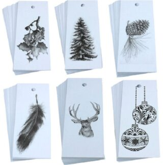 Christmas Mix White Gift Tags