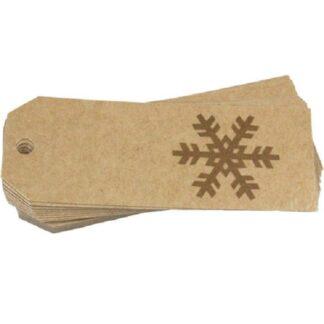 Gold Snowflake Gift Tag
