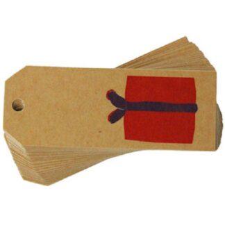 Present Kraft Gift Tag