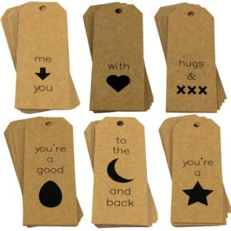 Picture Mix Kraft Gift Tags