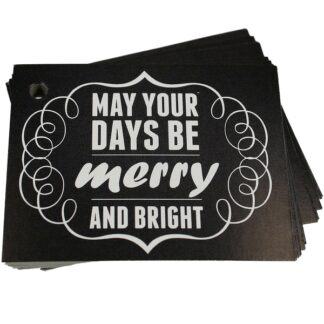 Merry & Bright Chalk Gift Tag