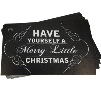 Merry Little Xmas Chalk Gift Tag