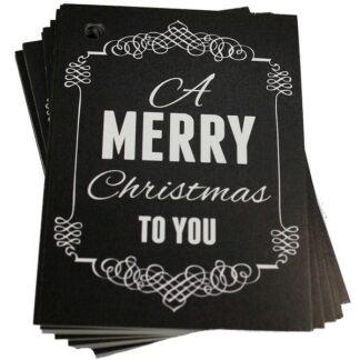 Merry Xmas Chalk Gift Tag