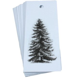 Pine Tree White Gift Tag
