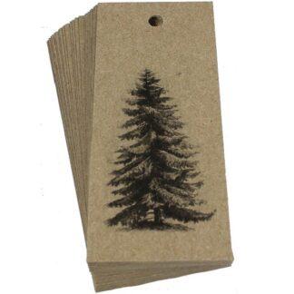Pine Tree Kraft Gift Tag