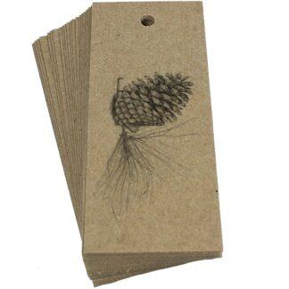 Pine Cone Kraft Gift Tag