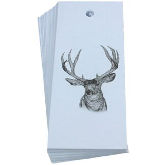 Stag White Gift Tag