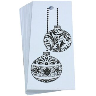 Baubles White Gift Tag