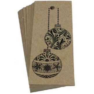 Baubles Kraft Gift Tag