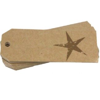 Gold Star Gift Tag