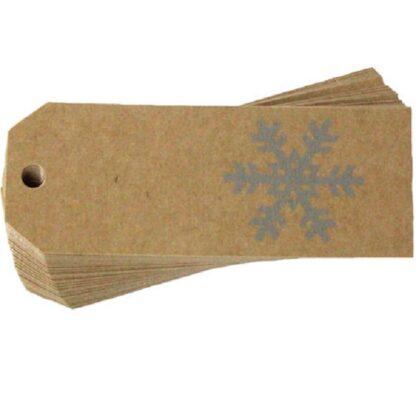 Silver Snowflake Gift Tag