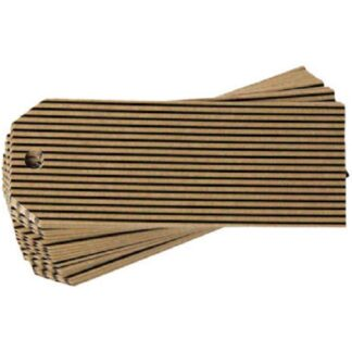 Black Stripes Kraft Gift Tag