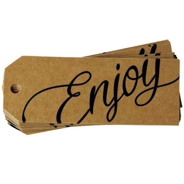 Enjoy Kraft Gift Tag