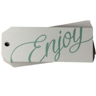 Enjoy White Gift Tag