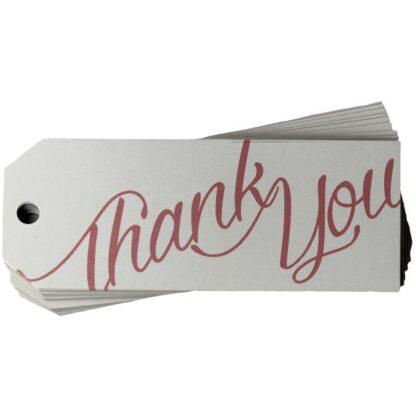 Thank You White Gift Tag