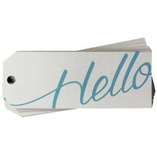 Hello White Gift Tag