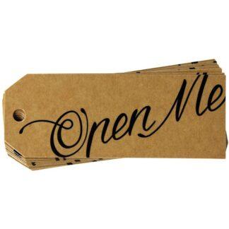 Open Me Kraft Gift Tag