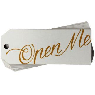 Open Me White Gift Tag