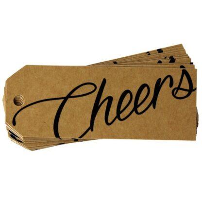 Cheers Kraft Gift Tag