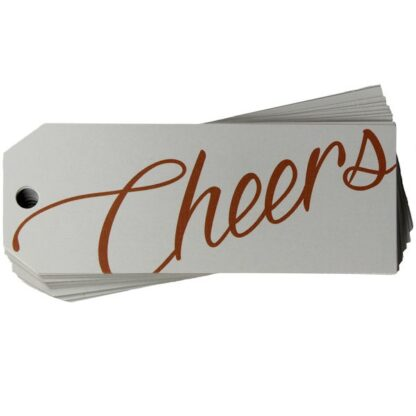 Cheers White Gift Tag